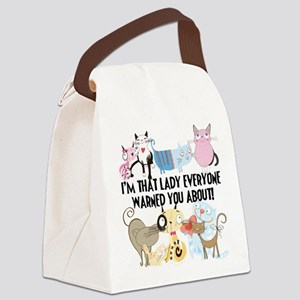 That Cat Lady Canvas Lunch Bag