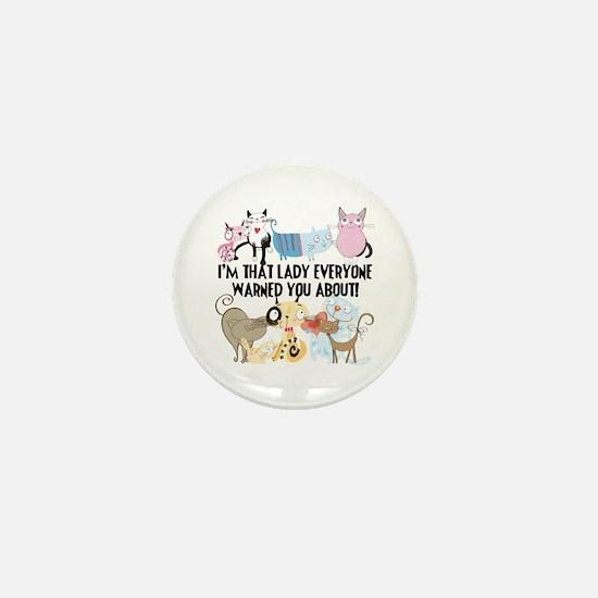 That Cat Lady Mini Button
