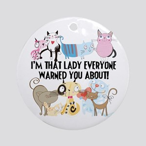 That Cat Lady Ornament (Round)