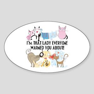 That Cat Lady Sticker (Oval)