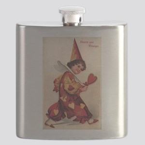 Valentine Pierrot Girl Flask