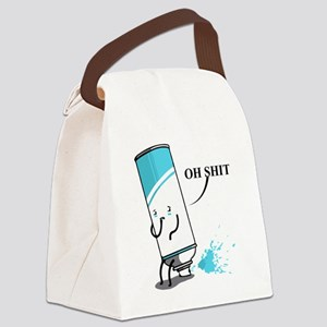 Oh Shit, Witty Saying Canvas Lunch Bag