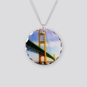Mackinac Bridge Necklace Circle Charm