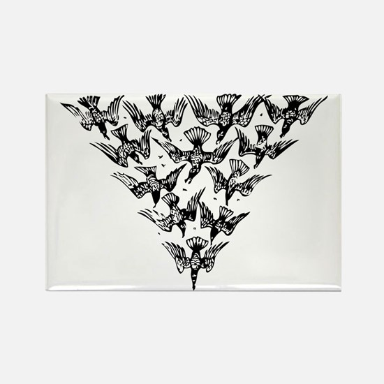Cute Murder of crows Rectangle Magnet