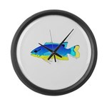 Southseas Damselfish Large Wall Clock