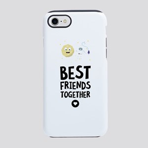 Cats and the Moon Best friends iPhone 7 Tough Case
