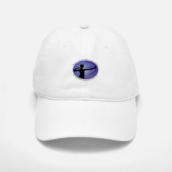 Man created the Bow, A women Baseball Baseball Cap
