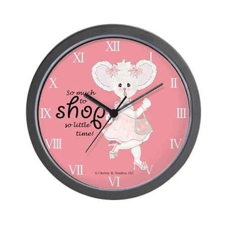 So Much To Shop So Little Time Wall Clock