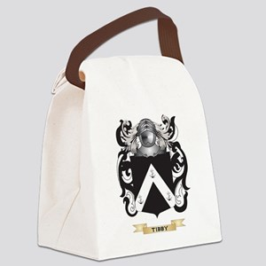 Tibby Family Crest (Coat of Arms) Canvas Lunch Bag