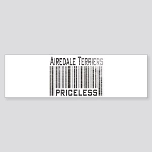 Airedale Terrier Priceless Weathered Barcode Stick