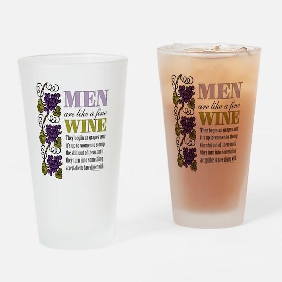 Men Like Fine Wine Drinking Glass
