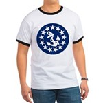 Stars and Anchor Ringer T
