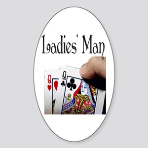 Ladies' Man Oval Sticker