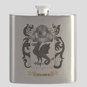 Tilney Family Crest (Coat of Arms) Flask