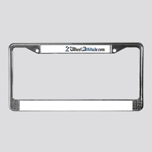 2 Wheel Attitude License Plate Frame