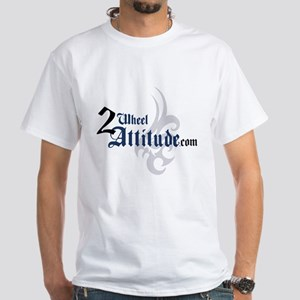 2 Wheel Attitude White T-Shirt