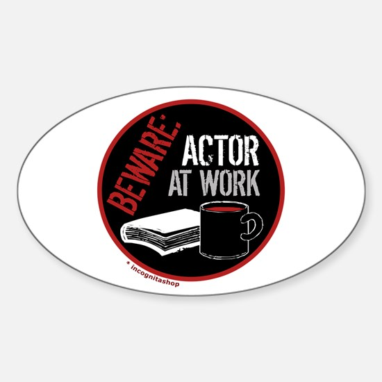 Actor at Work Oval Decal