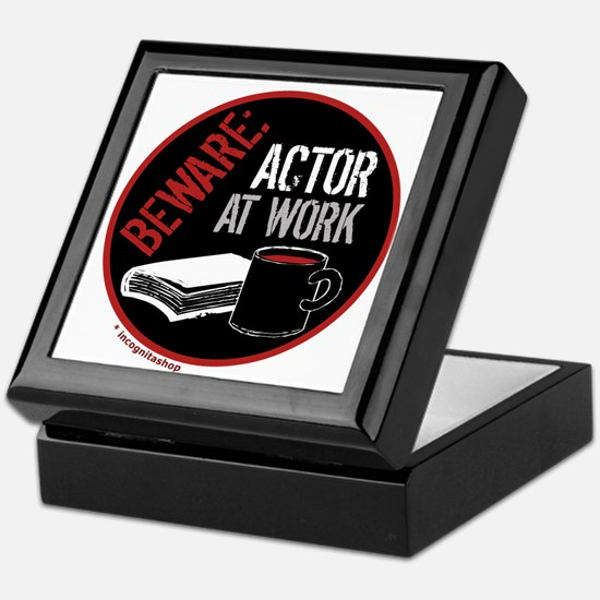 Actor at Work Keepsake Box