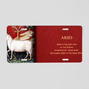 Aries Historical Aluminum License Plate