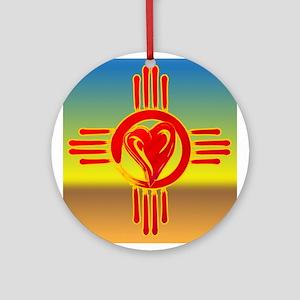 DESERT ZIA LOVE Ornament (Round)