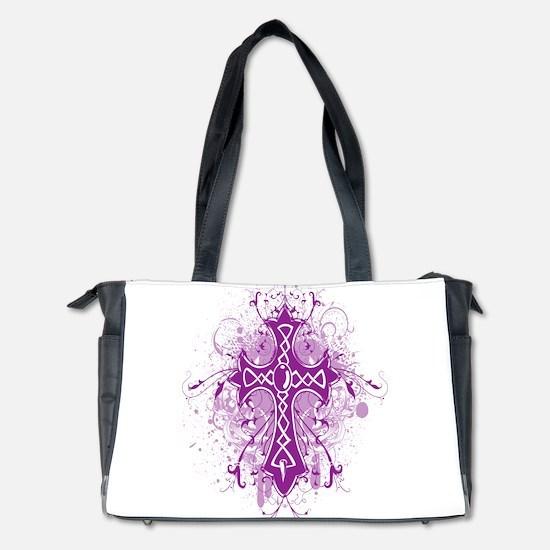 Modern Cross Purple Diaper Bag