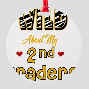 Wild about my  2nd Graders Round Ornament