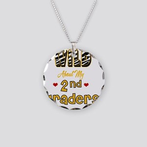 Wild about my  2nd Graders Necklace Circle Charm
