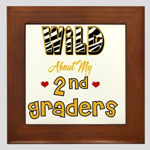 Wild about my  2nd Graders Framed Tile
