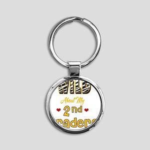 Wild about my  2nd Graders Round Keychain