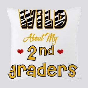 Wild about my  2nd Graders Woven Throw Pillow