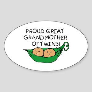 proud great grandmother pod Oval Sticker