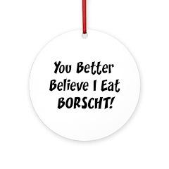 Borscht Ornament (Round)
