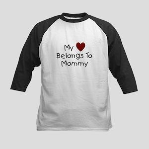 My Heart Belongs to Mommy Kids Baseball Jersey