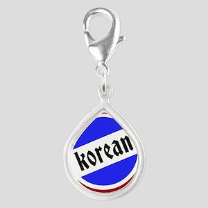 Korean Pride Silver Teardrop Charm