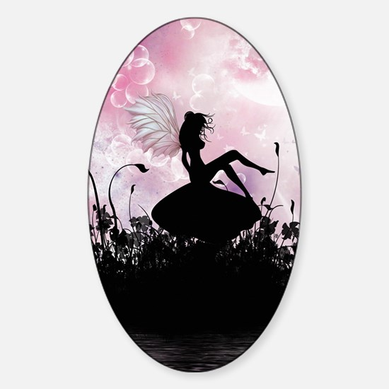 Fairy Silhouette Sticker (Oval)
