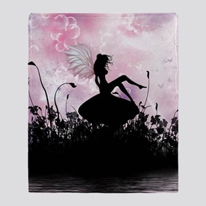 Fairy Silhouette Throw Blanket