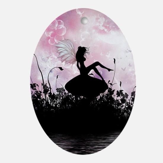 Fairy Silhouette Oval Ornament