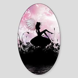 Fairy Silhouette Sticker (Oval)