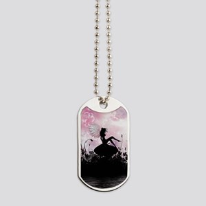 Fairy Silhouette Dog Tags