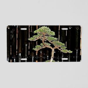 Bonsai Tree Aluminum License Plate