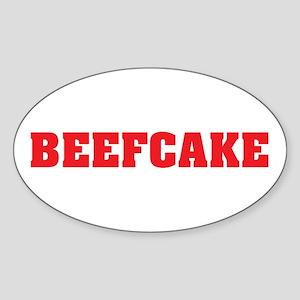 BeefCake Oval Sticker
