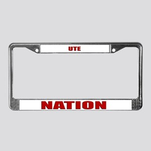 Ute Nation License Plate Frame