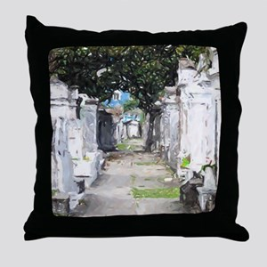 New Orleans Cemetary Throw Pillow