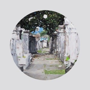 New Orleans Cemetary Round Ornament