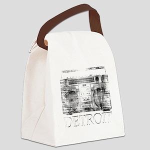 Detroit Ghetto Blaster Boombox Canvas Lunch Bag