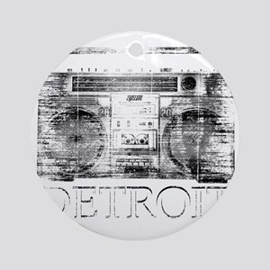 Detroit Ghetto Blaster Boombox Round Ornament