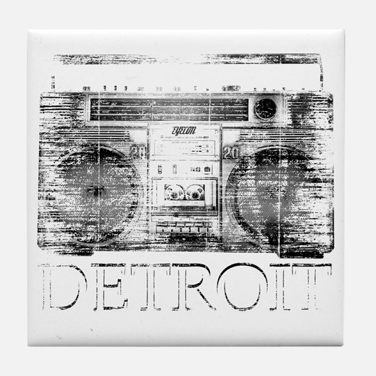 Detroit Ghetto Blaster Boombox Tile Coaster