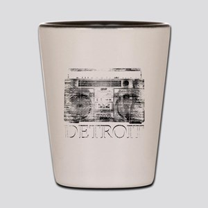 Detroit Ghetto Blaster Boombox Shot Glass