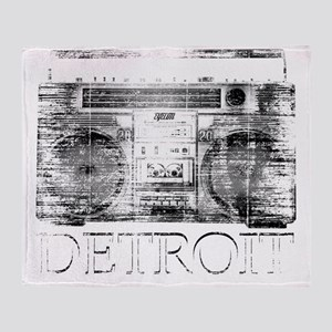 Detroit Ghetto Blaster Boombox Throw Blanket