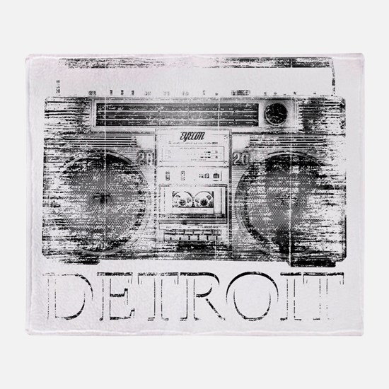 Detroit Ghetto Blaster Boombox Throw Blanket